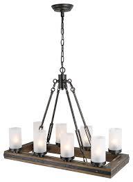 island pendant lights rustic wood metal
