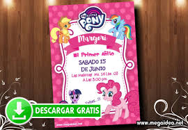 My Little Pony Tarjetas De Invitacion Mega Idea