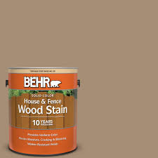 Behr 1 Gal Sc 121 Sandal Solid Color House And Fence Exterior Wood Stain 03001 The Home Depot