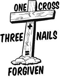 One Cross Three Nail Forgiven Jesus Saves Vinyl Decal Window Bumper Sticker Ebay
