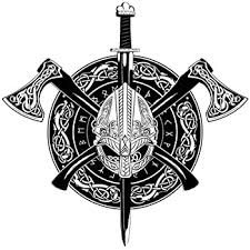 Amazon Com Dark Spark Decals Viking Celtic Ax E Sword And Sheild 4 Inch Full Color Vinyl Decal For Indoor Or Outdoor Use Cars Laptops Decor Windows And More Automotive