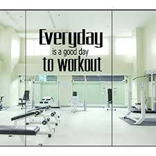 Everyday Is A Good Day To Workout Wall Or Window Decal Lrg 20 X 35 Walmart Com Walmart Com