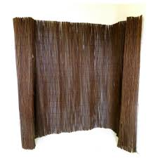 Mgp 14 Ft L X 6 Ft H Woven Willow Fence Wf 6 The Home Depot