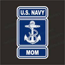 Us Navy Mom Military Bumper Sticker Vinyl Window Decal