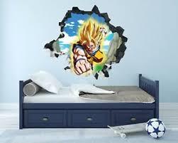 Dragon Ball Z Goku Wall Hole 3d Decal Vinyl Sticker Room Smashed Goku Dg020