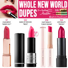 mac whole new world lipstick dupes