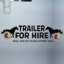 Trailer For Hire Horse Caution Trailer Vinyl Decal Sticker Gorilla Decals