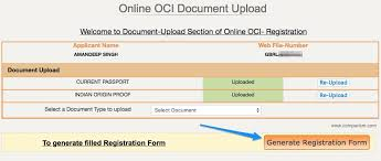 how to apply for oci card in the uk