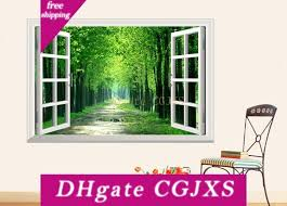 3d Stereo Scenery Fake Windows Stickers Window View Wall Decal Sunshine Wall Stickers Forest Path Wall Art Living Room Bedroom Hallway Sticker On The Wall Sticker On Wall From Kmdjsiwnb 5 31 Dhgate Com