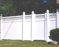 Privacy Vinyl Fence Lattice Top