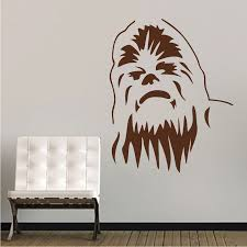 Chewbacca Wall Decal Decor Star Wars Wall Decal Murals Trendywalldesigns With Images Star Wars Wall Mural Star Wars Wall Decal Star Wars Bedroom Wall