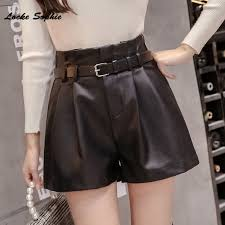 leather shorts 2020 autumn pu leather