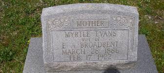 Myrtle Evans Broadbent (1886-1922) - Find A Grave Memorial