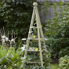 large garden obelisk wooden 1 9m sage