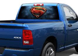 Product Superman Art Rear Window Decal Sticker Pick Up Truck Suv Car