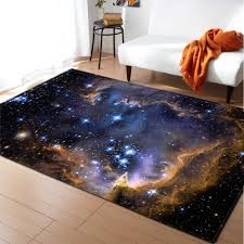 3d Galaxy Space Stars Carpet Home Decorative Area Rugs Flannel Non Slip Bedroom Dining Room Rugs Kids Play Living Room Carpet Carpet Aliexpress