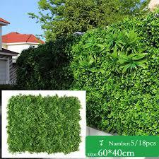 Artificial Vertical Garden 60x40 Hedge Green Wall Grass Greenery Garden Fence Uv Garden Balcony Privacy Screen Backdrop Artificial Lawn Aliexpress