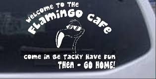 Flamingo Cafe Car Or Truck Window Decal Sticker Rad Dezigns