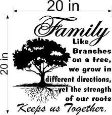 Tree Wall Decal Inspirational Decal Family Roots Keep Us Together Jeyfel