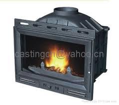 cast iron wood burning fireplace insert
