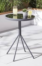 tesco metal glass garden bistro table