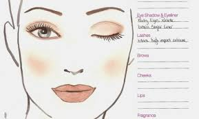 blank face charts for makeup artists