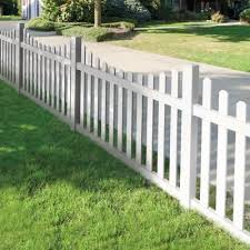 Veranda Seneca Scallop 4 Ft X 6 Ft White Vinyl Fence Panel Kit 73014405 The Home Depot White Vinyl Fence Backyard Fences Fence Design