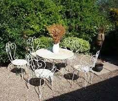 vintage set of french garden table