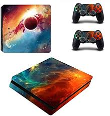 Amazon Com Uushop Vinyl Skin Sticker Decal Cover For Sony Playstation 4 Slim Ps4 Console Lighting Galaxy Video Games