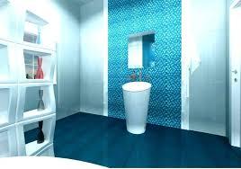 blue wall tiles bathroom ideas floor