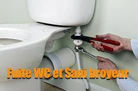 Fuite WC et Sanibroyeur