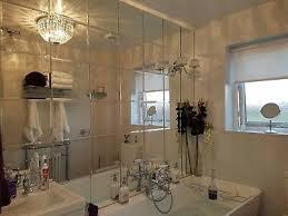 square bevelled edge mirror tiles