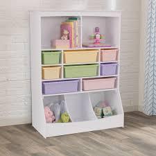 Kid Toy Storage Unit Bedroom Playroom Furniture Shelf Bookcase Toy Bin Toy Box Ebay