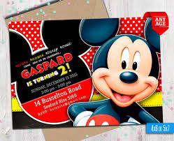 Invitaciones De Mickey Mouse Para Imprimir Ticketmaster Hacer A Mano