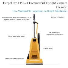 carpet pro cpu 4t upright mercial