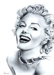 Marilyn Monroe Portrait Drawing by Adriana Holmes | Saatchi Art