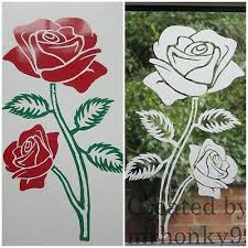 or coloured flower stickers decal