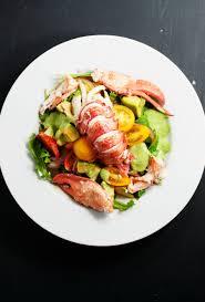 Maine lobster salad with avocado, pesto ...