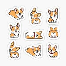 Corgi Stickers Redbubble