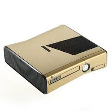 Brushed Gold Metal Effect Xbox 360 Slim Decal Skin Sticker Cover Wrap Ebay