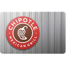 chipotle gift card 25 value only 23