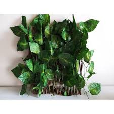 Vine Folding Expandable Artificial Leaves Fence Shopee Philippines