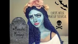 corpse bride inspired halloween makeup