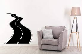 Amazon Com Fsds Wall Decals For Boys Race Cars Road Tire Tracks Children Room Wall Decal Race Car For Living Room Bedroom Office Home Design Highway Way Garage Large Race Car