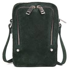 Hillary shoulder bag by Adax in green Rubicone suede