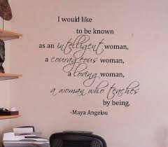 Woman Maya Angelou Wall Decal Maya Angelou Quotes Wall Quotes Decals Maya Angelou