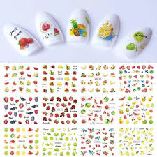 2018 Summer New Nail Sticker Water Transfer Decal Fruit Flower Ice Cream Cartoon Lovely Design Manicure Slider Set Labn805 852 Nail Stickers Watermelon Decor Sticker Set