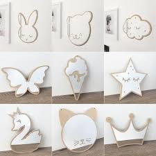 Cute Nordic Wood Cartoon Acrylic Mirror Wall Stickers Funny Camera Props Kids Room Wall Decor Sticker Wood Edge Mirror Decals Wall Mirrors Cheap Wall Mirrors Decor From Wangxiaofeng806 8 21 Dhgate Com
