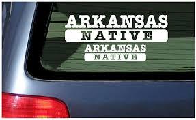 Amazon Com Arkansas Native White Vinyl Sticker Window Decal Automotive