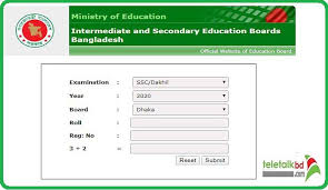 SSC Result 2020 All Education Board With Full Mark Sheet